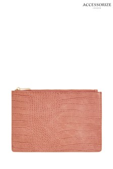 Accessorize Pink Stacey Pocket Coin Purse
