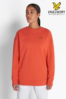 Lyle & Scott Paprika Orange Oversized Sweatshirt