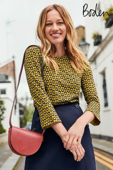 Boden Yellow Althea Jersey Top
