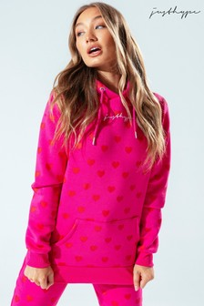 Hype. Womens Pink Heart Pullover Hoody