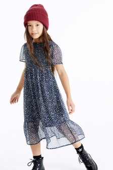Ditsy Shirred Maxi Dress (3-16yrs)