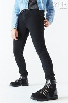 Kylie Black Skinny Plain Jeans