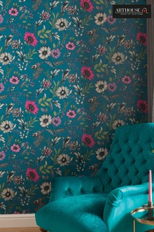 Botanical Songbird Floral Wallpaper by Arthouse