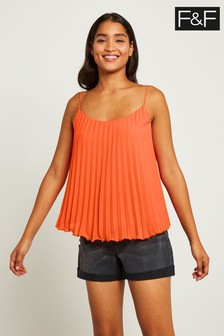F&F Orange Pleated Cami