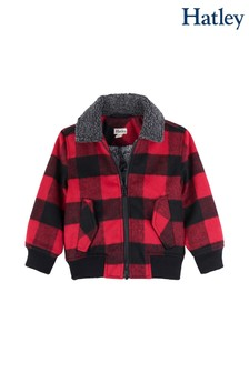 Hatley Red Buffalo Plaid Bomber Jacket