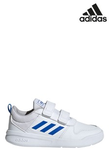 adidas White/Blue Tensaur Junior & Youth Velcro Trainers