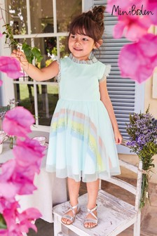 Boden Blue Rainbow Tulle Dress