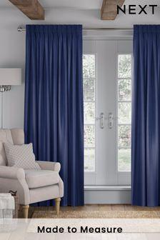 Indigo Blue Eloise Made To Measure Curtains