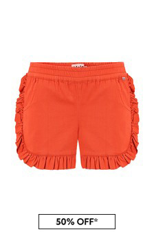 Molo Girls Red Cotton Shorts