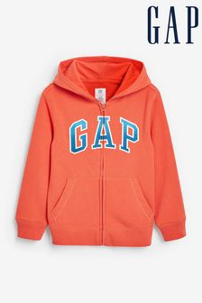Gap Arch Logo Zip Through Hoodie