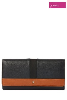 Joules Tally Carriage Leather Envelope Purse