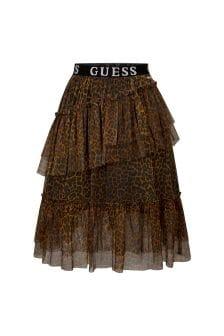 Guess Girls Animal Print Skirt