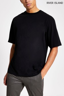River Island Black Oversized T-Shirt