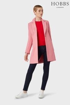 Hobbs Pink Camellia Coat