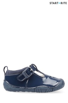 Start Rite Baby Bubble Navy Patent Leather Prewalker Shoes
