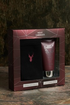 Next Origin Body Wash And Socks Gift