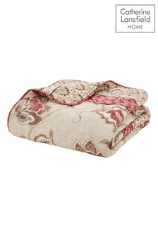 Kashmir Floral Paisley Easy Care Bedspread by Catherine Lansfield