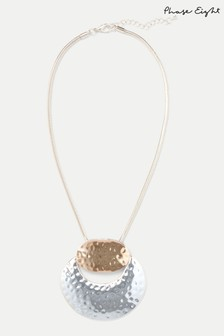 Phase Eight Multi Pippa Hammered Circle Pendant Necklace
