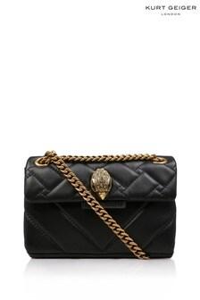 Kurt Geiger London Black Leather Mini Kensington Bag