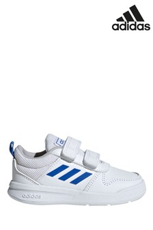 adidas White/Blue Tensaur Infant Trainers