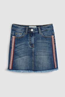 Side Tape Denim Skirt (3-16yrs)