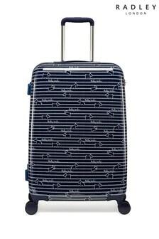 Radley Dog Stripe Medium Hard Shell Suitcase