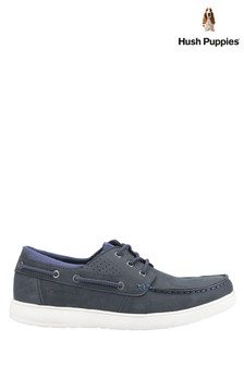 Hush Puppies Blue Liam Lace-Up Boat Shoes