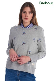 Barbour® Heritage Grey Embroidered Kingfisher Sweatshirt