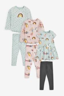Unicorn Dress, T-Shirt And Leggings Bundle (3mths-7yrs)
