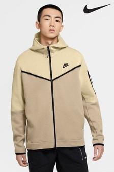 Nike Tech Fleece Colourblock Zip Through Hoodie