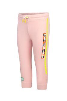 Stella McCartney Kids Girls Pink Cotton Joggers