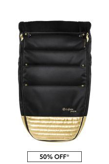Black/Gold Priam Footmuff