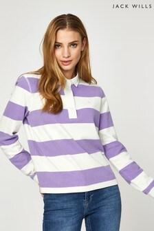 Jack Wills Purple Criggan Rugby Shirt