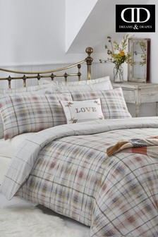 Marston Check Reversible Duvet Cover and Pillowcase Set by D&D