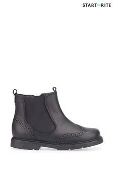 Start-Rite Black Chelsea Shoes