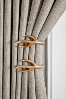 Set of 2 Antler Curtain Holdbacks