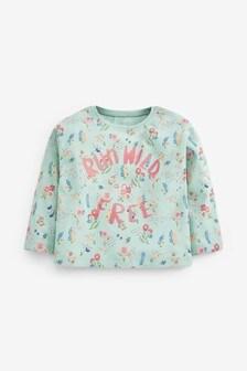 Floral Slogan T-Shirt (3mths-7yrs)