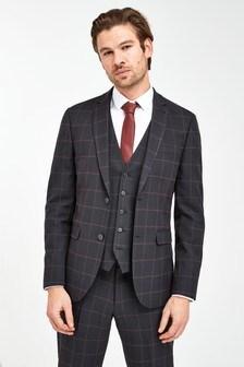 Check Slim Fit Suit