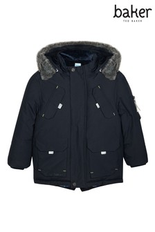 baker by Ted Baker Navy Parka