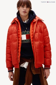 Tommy Hilfiger Orange Rope Dye Hooded Bomber Jacket