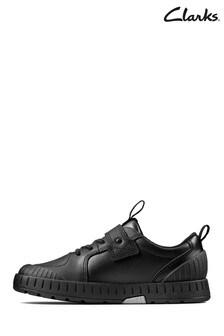 Clarks Kids Black Apollo Step Shoe