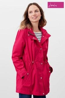 Joules Pink Shoreside Waterproof A-Line Coat