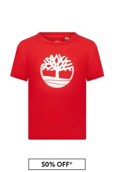 Timberland Orange Cotton T-Shirt