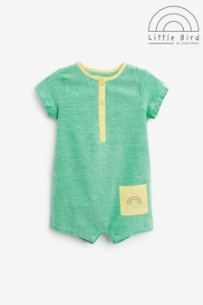 Little Bird Green Pocket Romper