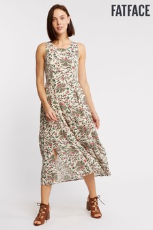 FatFace Natural Connie Alhambra Palms Dress