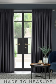 Jasper Onyx Black Made To Measure Curtains