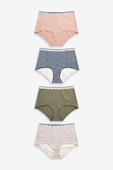 Cotton Rich Logo Knickers 4 Pack