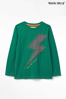 White Stuff Green Kids Fast As Lightning Jersey T-Shirt