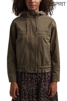 Esprit Green Outdoor Vowen Jacket With Hoody