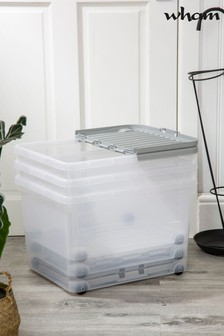 Set of 3 32L Boxes with Wheels and Folding Lid by Wham